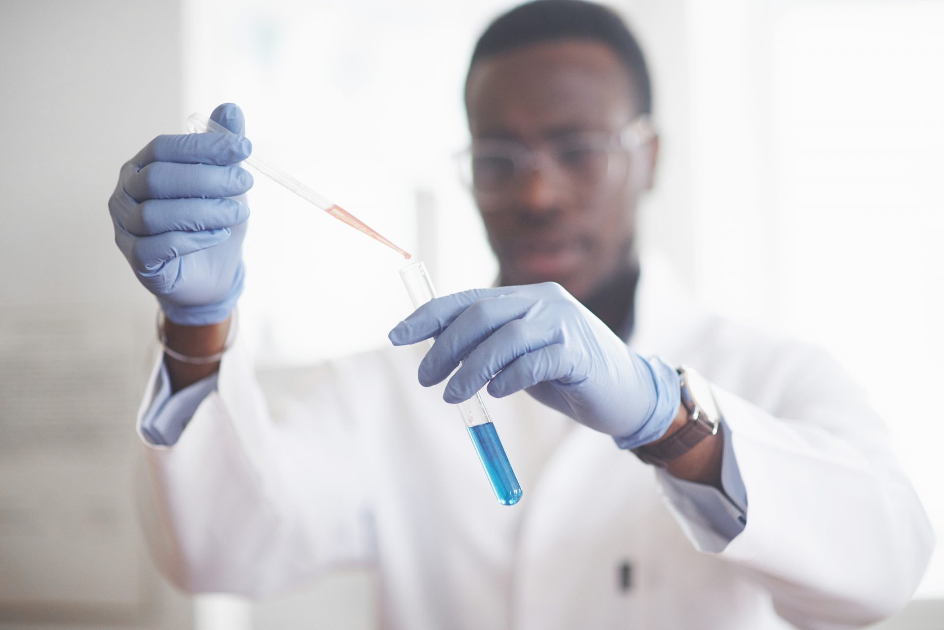 african-american-worker-works-laboratory-conducting-experiments